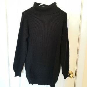 Boohoo Knit Rolled-up Neck Sweater Dress Size S